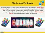 mobile apps for events