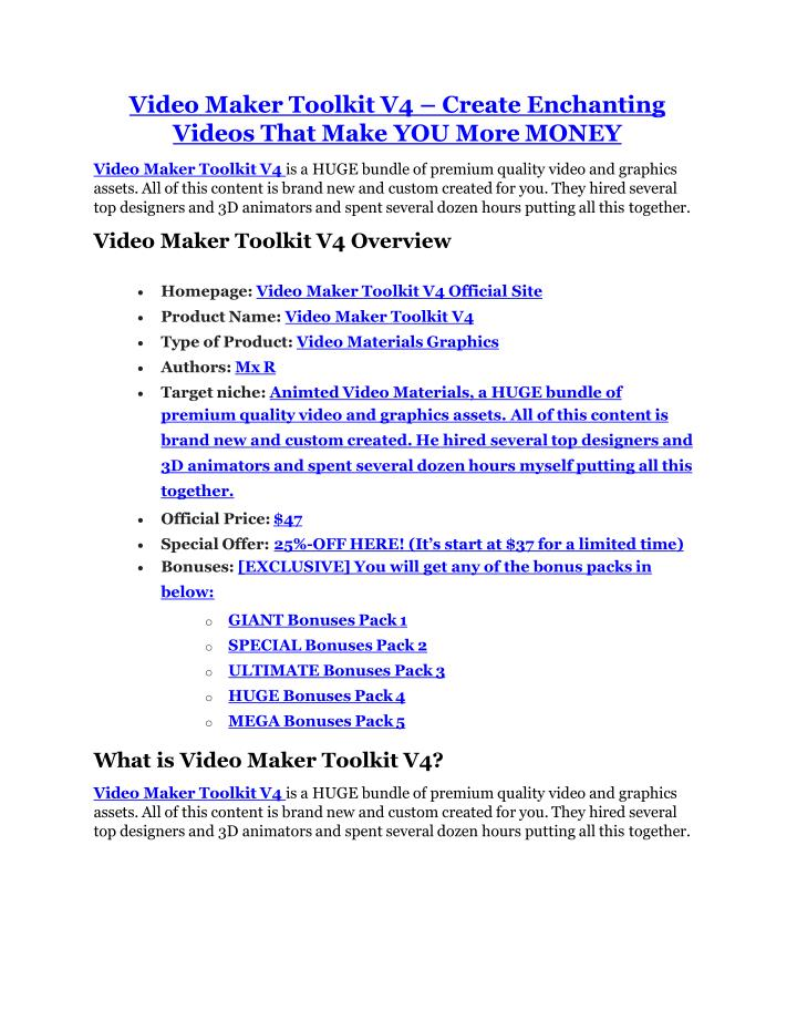 Video Maker Toolkit V4 – Create Enchanting