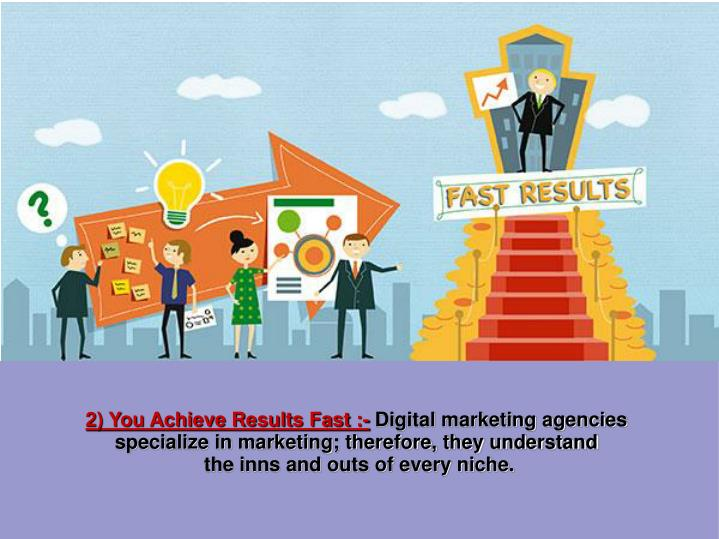 2) You Achieve Results Fast :-