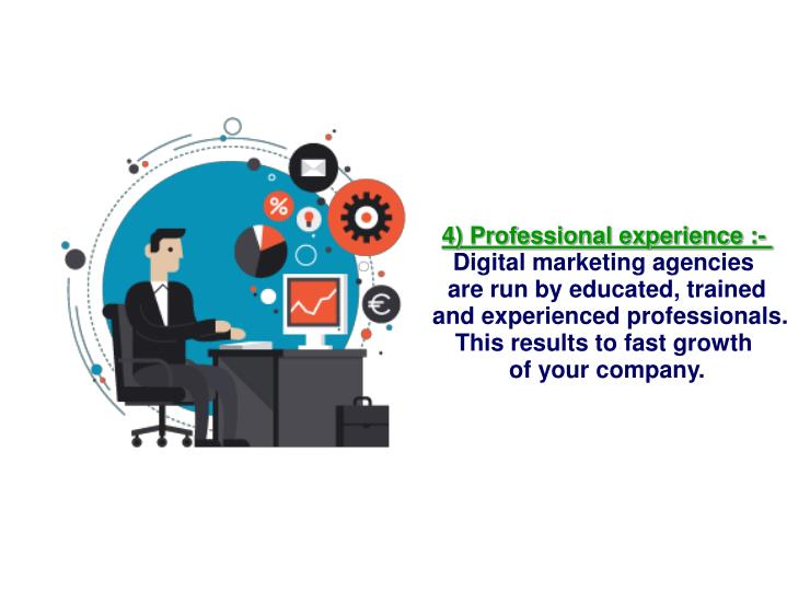 4) Professional experience :-