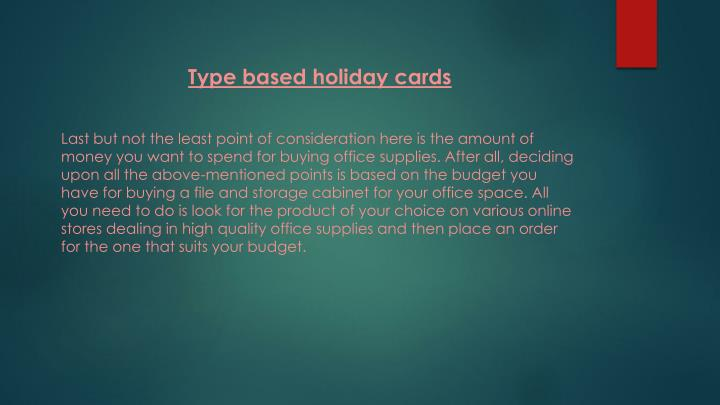 Type based holiday cards