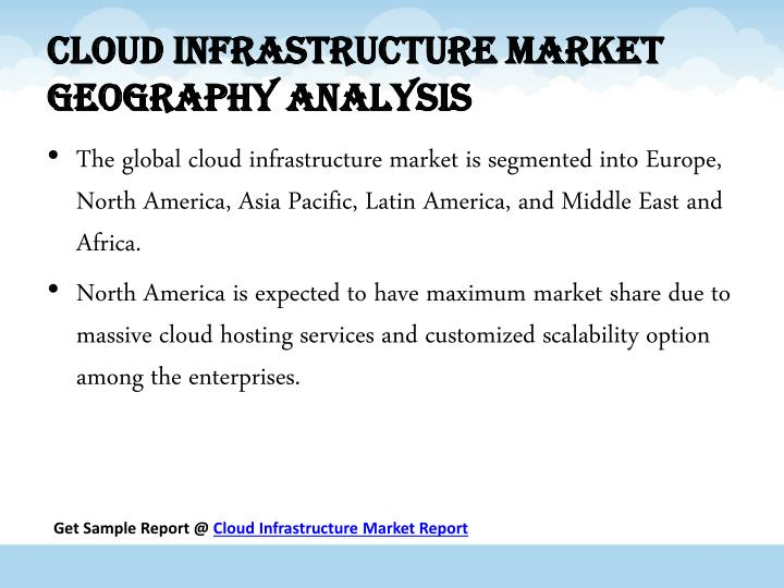 Cloud infrastructure Market Geography Analysis