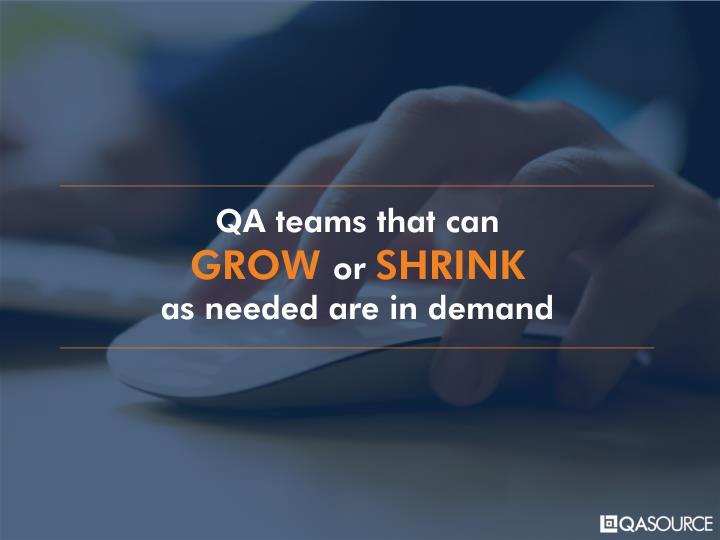 QA teams that can