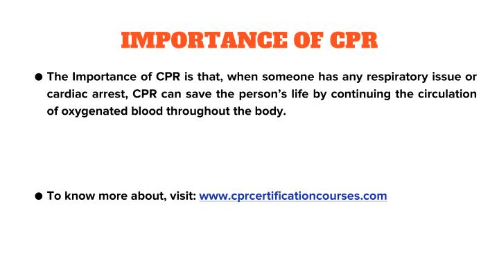 IMPORTANCE OF CPR