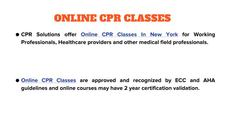 ONLINE CPR CLASSES