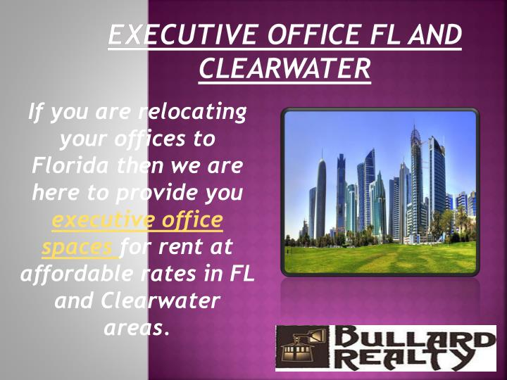 Executive office fl and clearwater