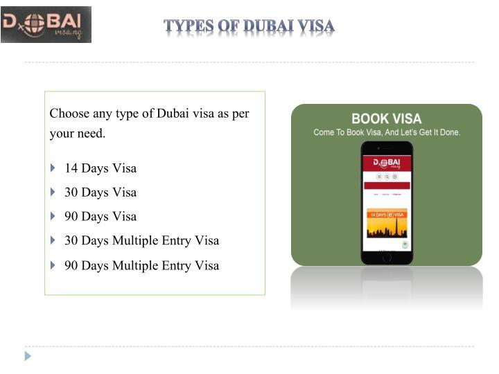 Types Of Dubai Visa
