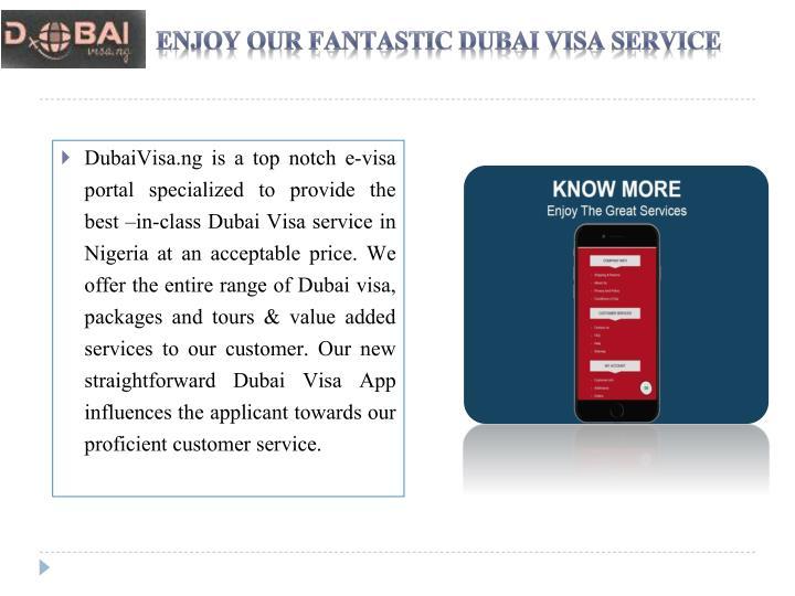 Enjoy Our Fantastic Dubai Visa Service