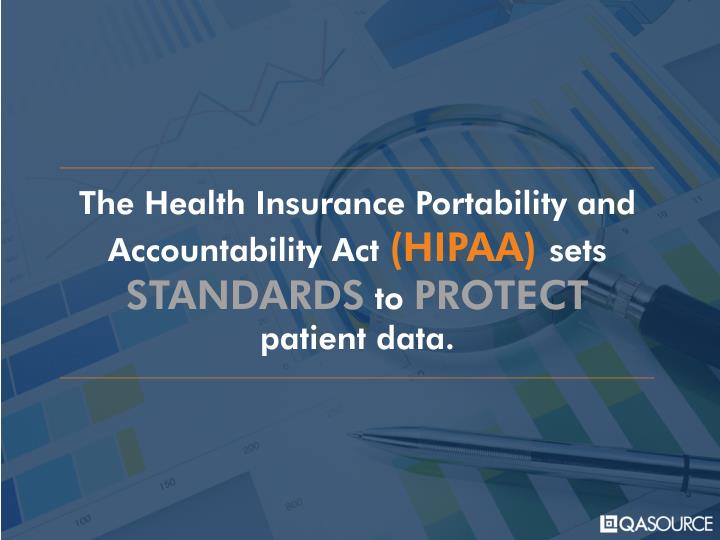 The Health Insurance Portability and