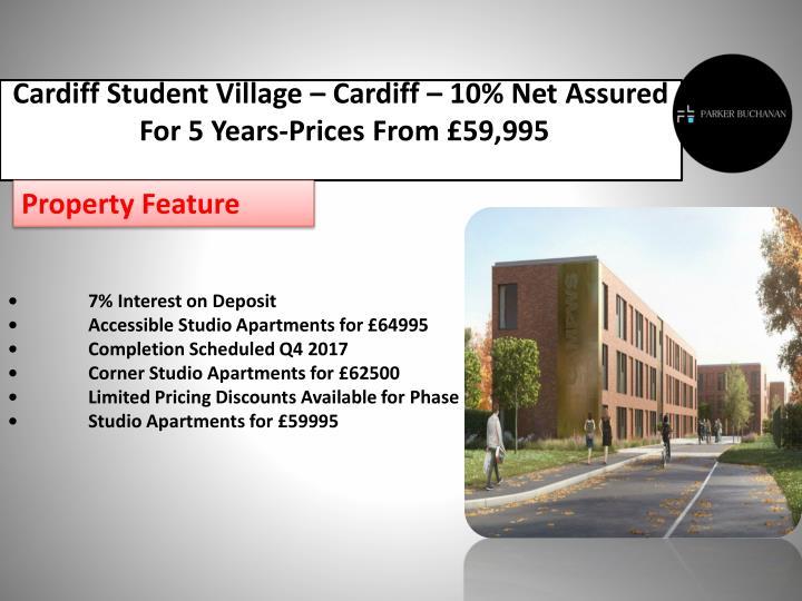 Cardiff Student Village – Cardiff – 10% Net