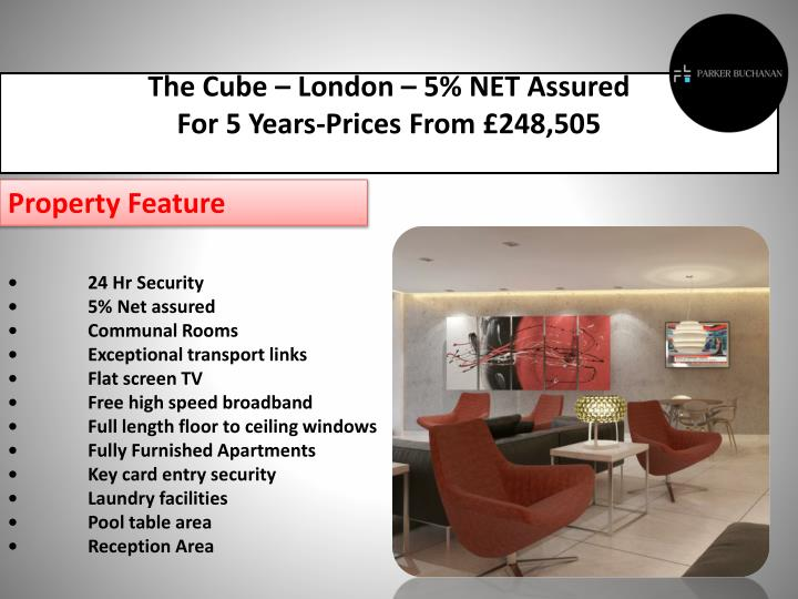The Cube – London – 5% NET Assured