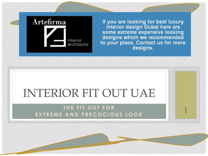 Interior fit out uae