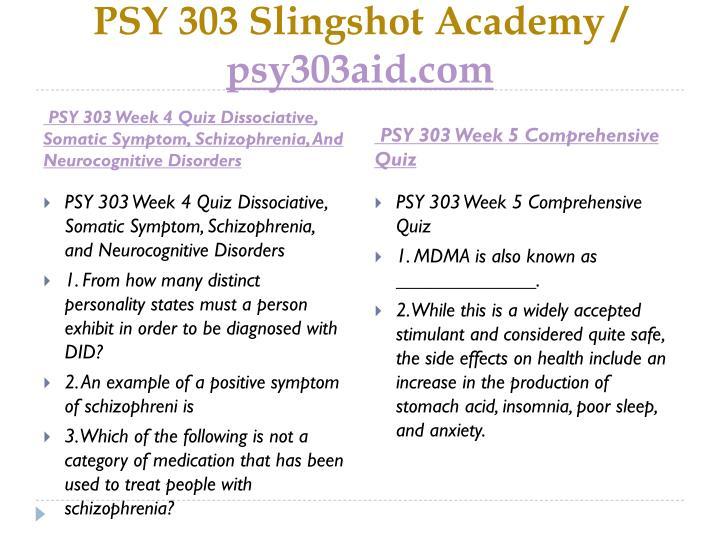 PSY 303
