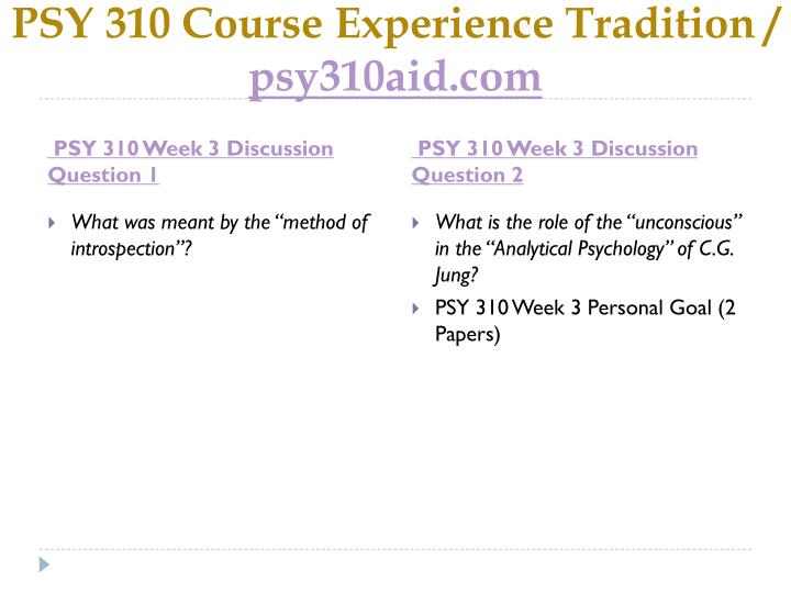 PSY 310 Course