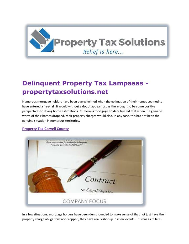 Delinquent Property Tax Lampasas -