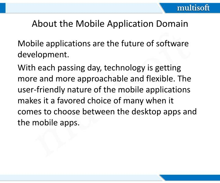 About the Mobile Application Domain