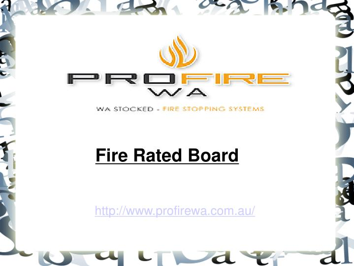 Fire Rated Board