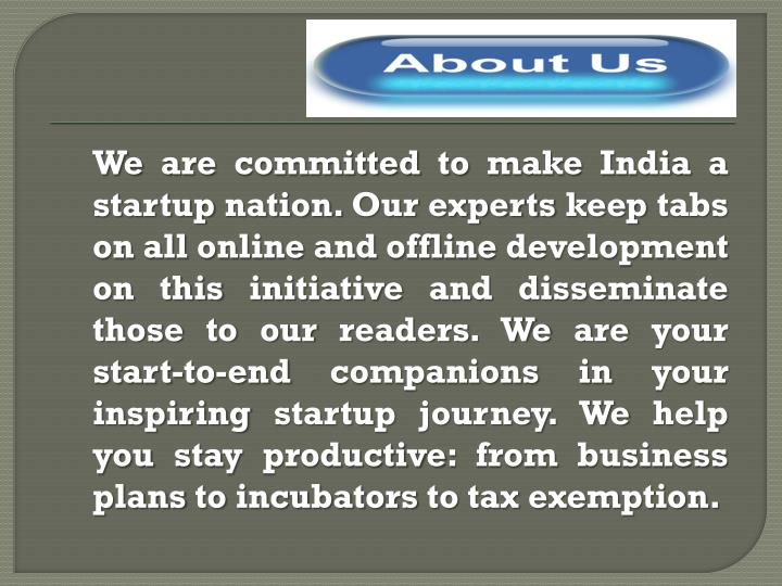 We are committed to make India a