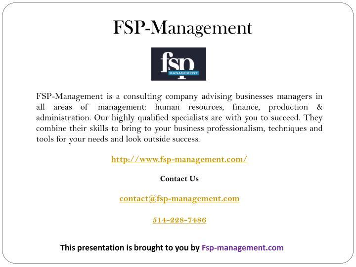 FSP-Management