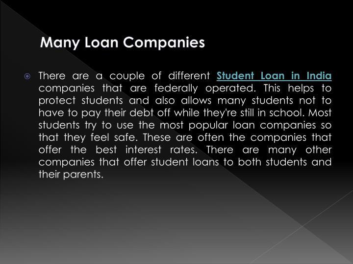 Many Loan Companies