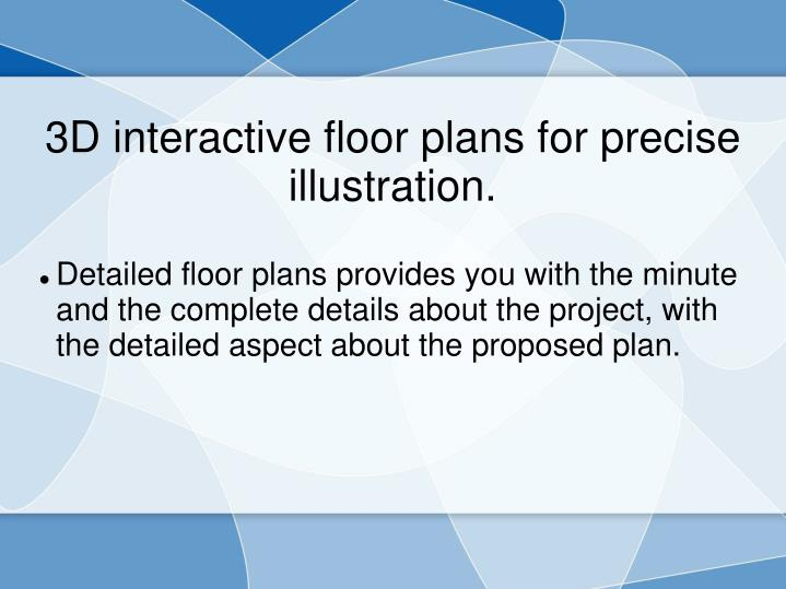 3d interactive floor plans for precise illustration