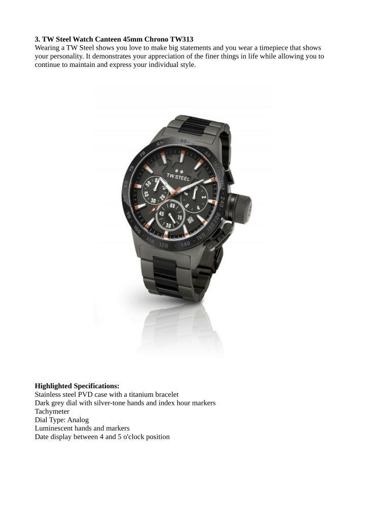 3. TW Steel Watch Canteen 45mm Chrono TW313