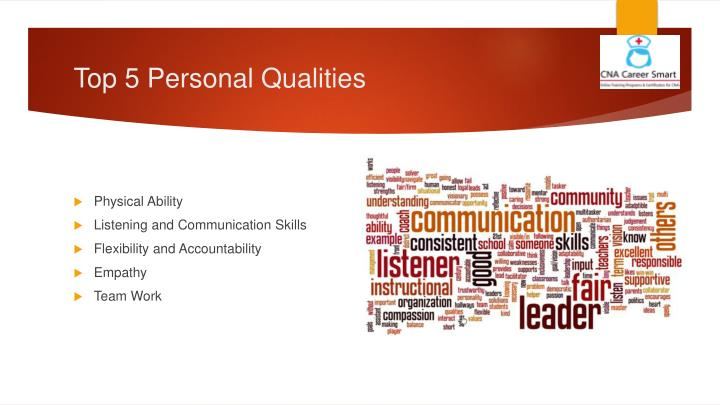 Top 5 personal qualities
