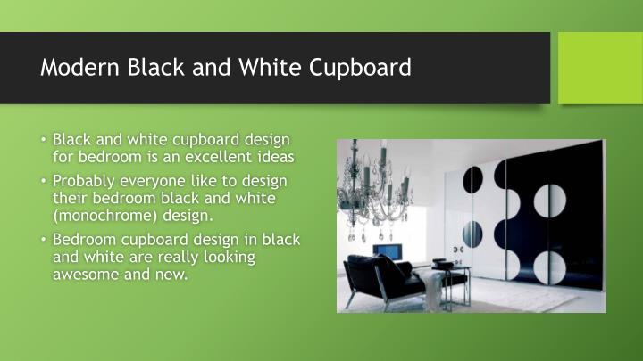 Modern Black and White Cupboard