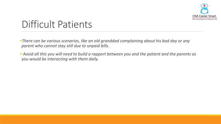 Difficult Patients