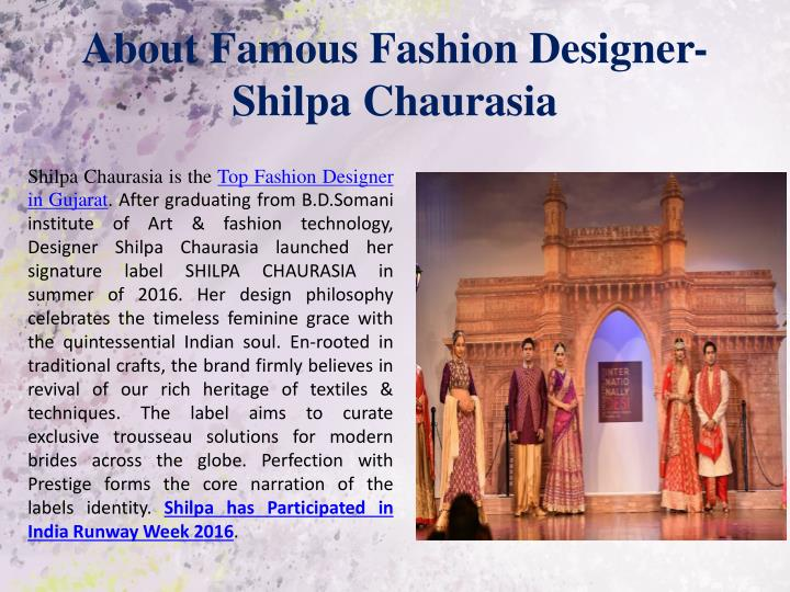 About Famous Fashion Designer-