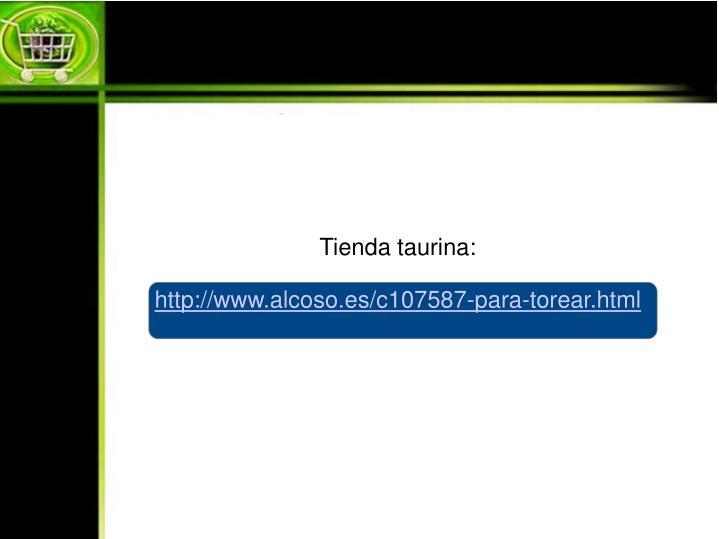 Tienda taurina:
