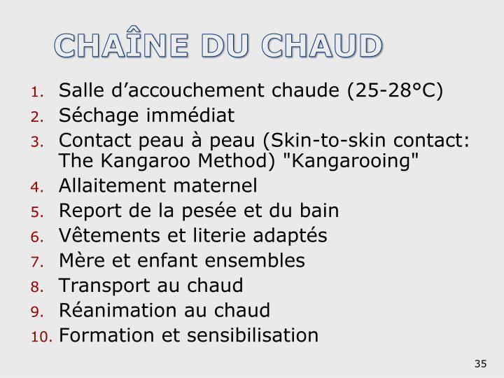 CHAÎNE DU CHAUD
