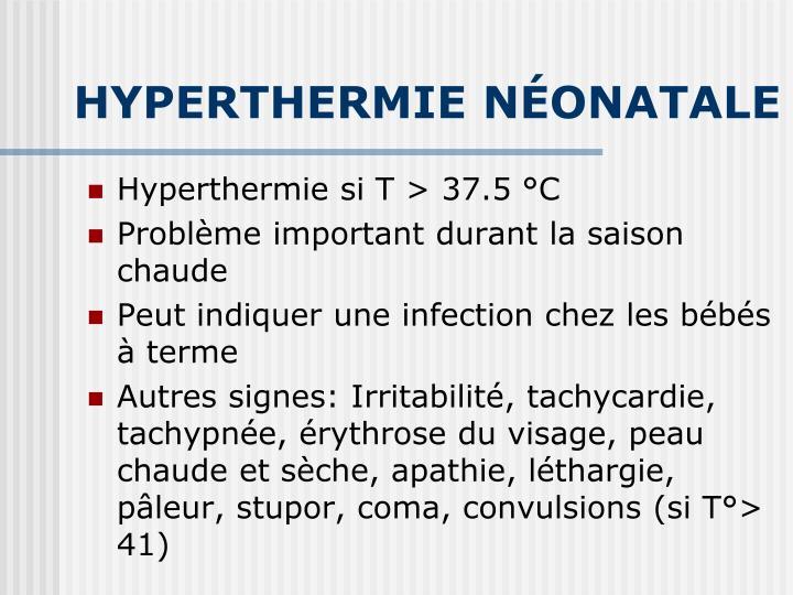 HYPERTHERMIE NÉONATALE