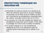 protection thermique du nouveau n
