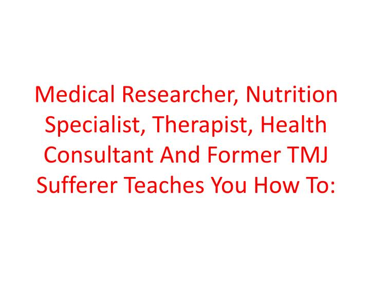 Medical Researcher, Nutrition