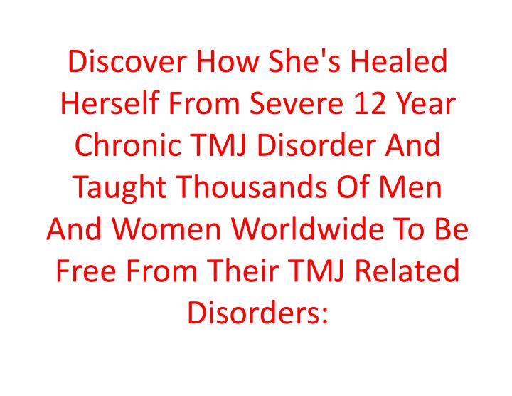 Discover How She's Healed