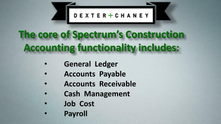 Accounts receivable dexter chaney 7419075