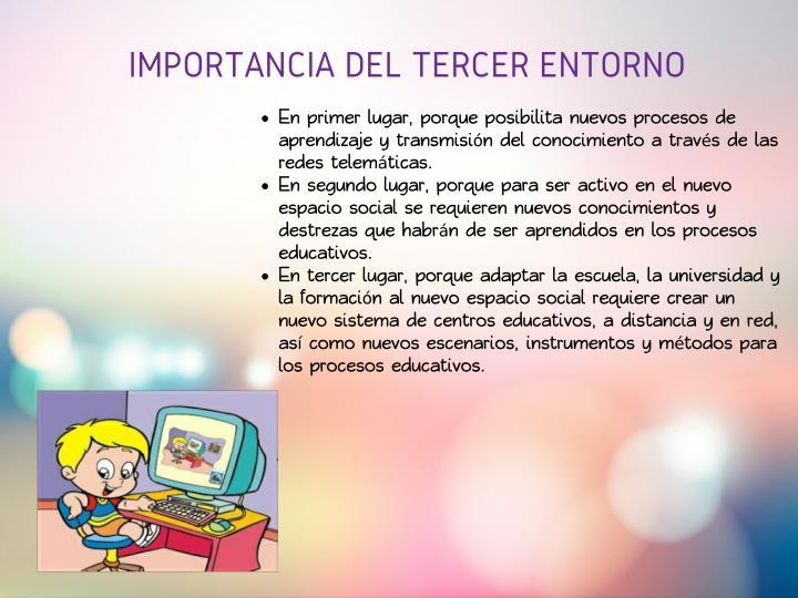 IMPORTANCIA DEL TERCER ENTORNO