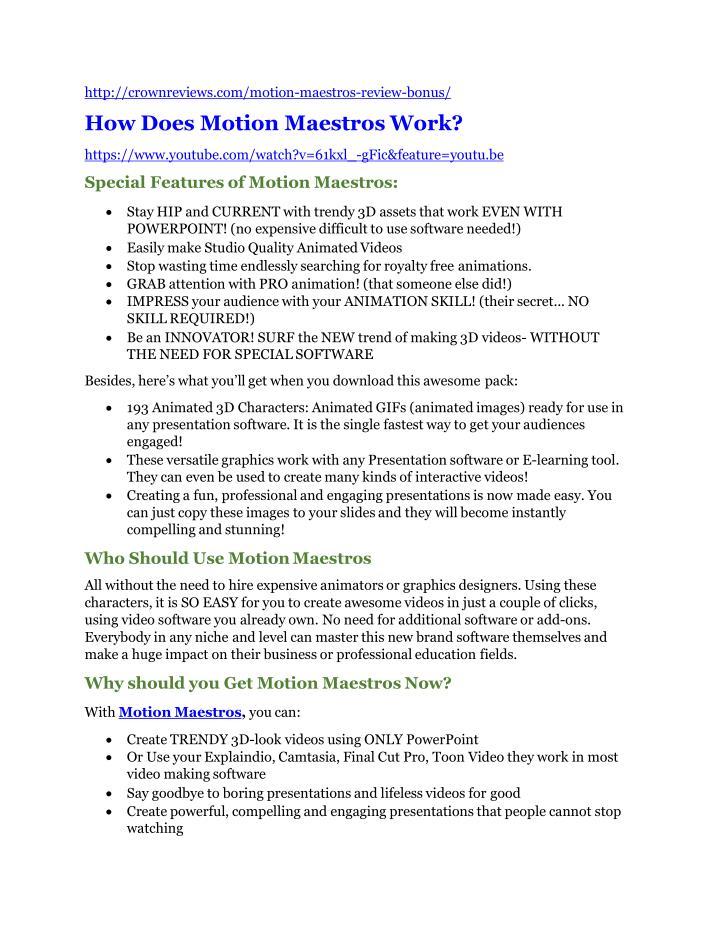 http://crownreviews.com/motion-maestros-review-bonus/