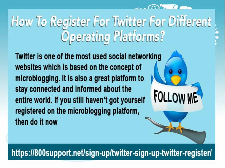 How to register for twitter for different operating platforms