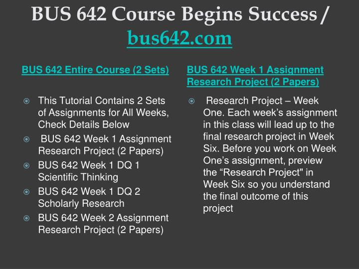 Bus 642 course begins success bus642 com1