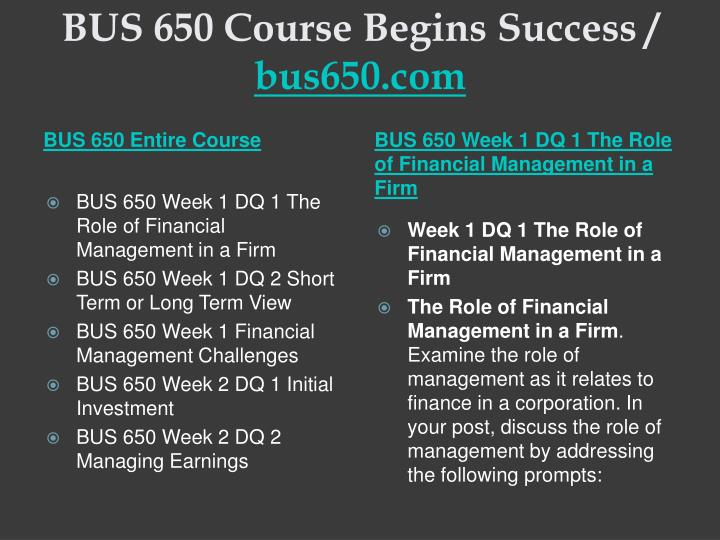 Bus 650 course begins success bus650 com1