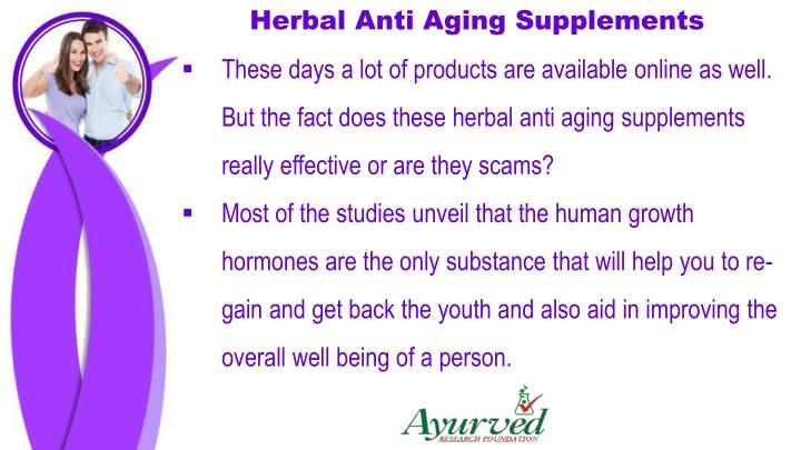 Herbal Anti Aging Supplements