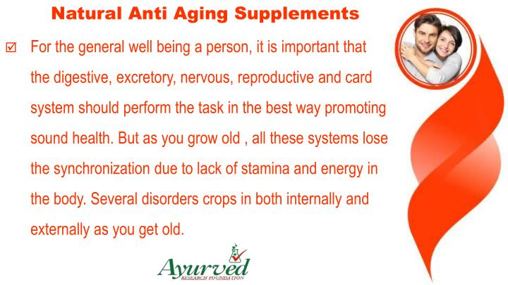 Natural Anti Aging Supplements