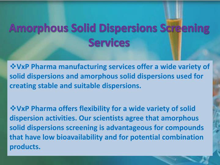Amorphous Solid Dispersions Screening Services