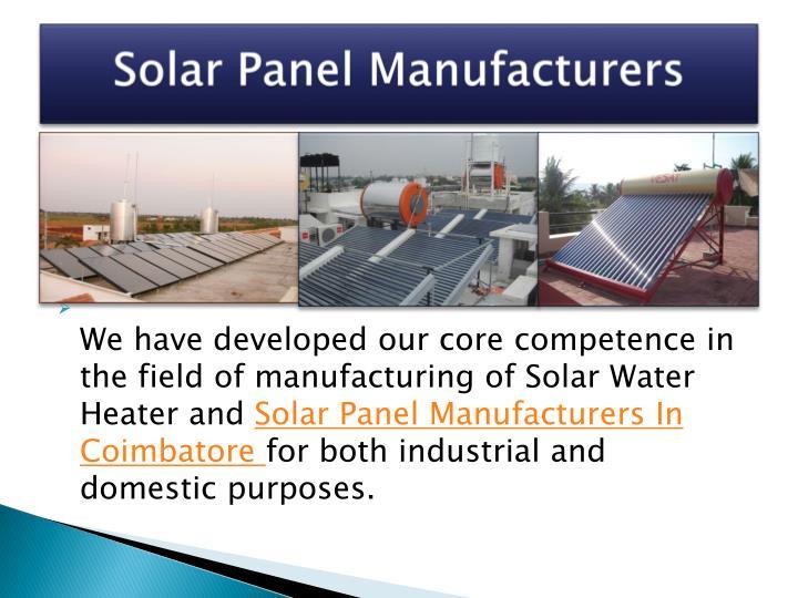 Solar Panel Manufacturers