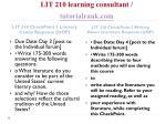 lit 210 learning consultant tutorialrank com2