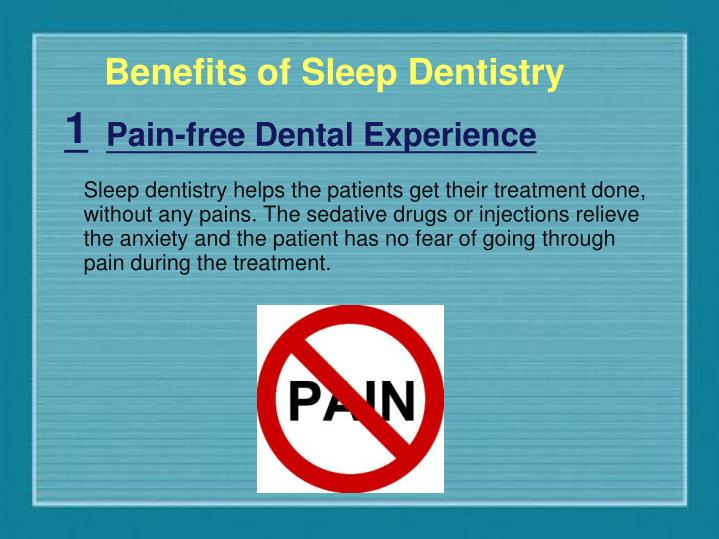 Benefits of Sleep Dentistry