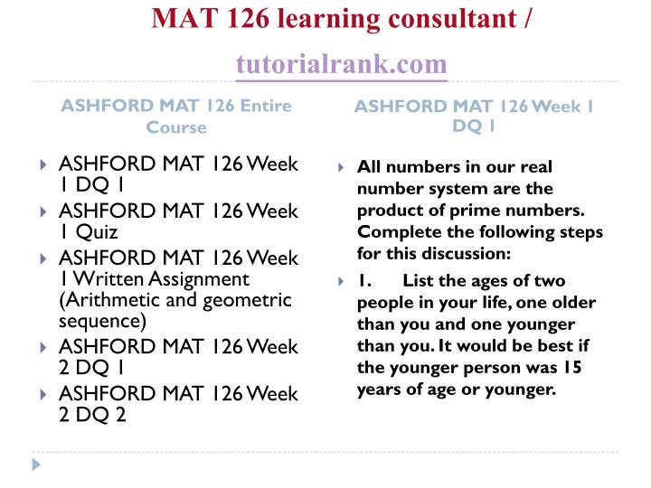 Mat 126 learning consultant tutorialrank com1
