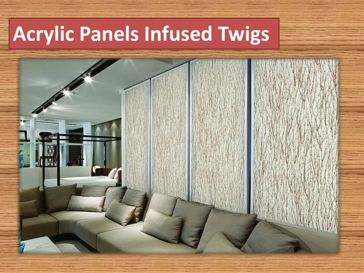 Acrylic Panels Infused Twigs
